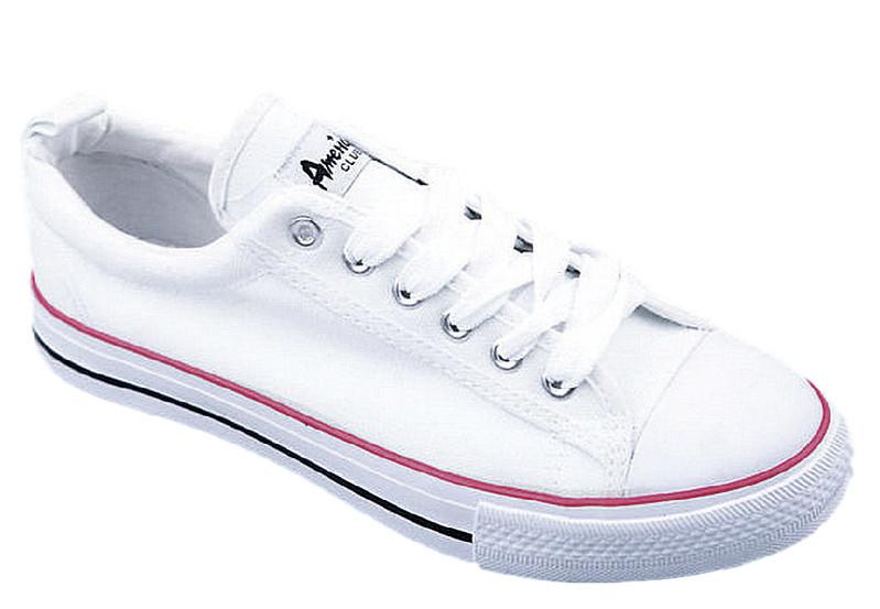 17be06e3 Tenisówki trampki damskie białe American Club 01-4