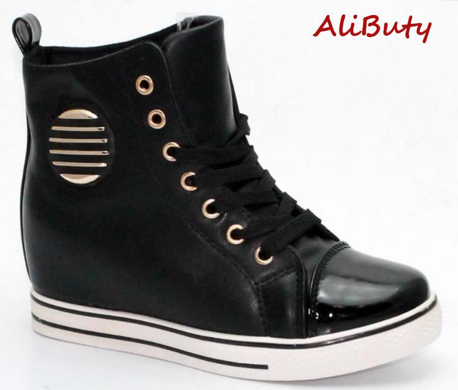 ce235e46b8e32 Trampki damskie koturn sneakers