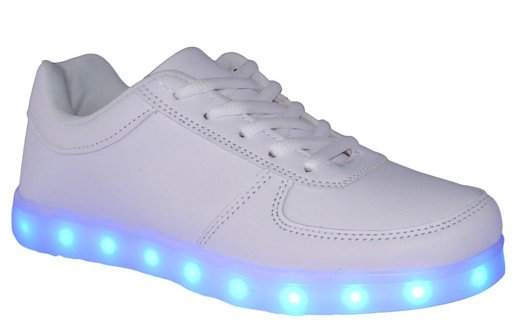 013ce578 Buty sportowe świecące LED Badoxx białe
