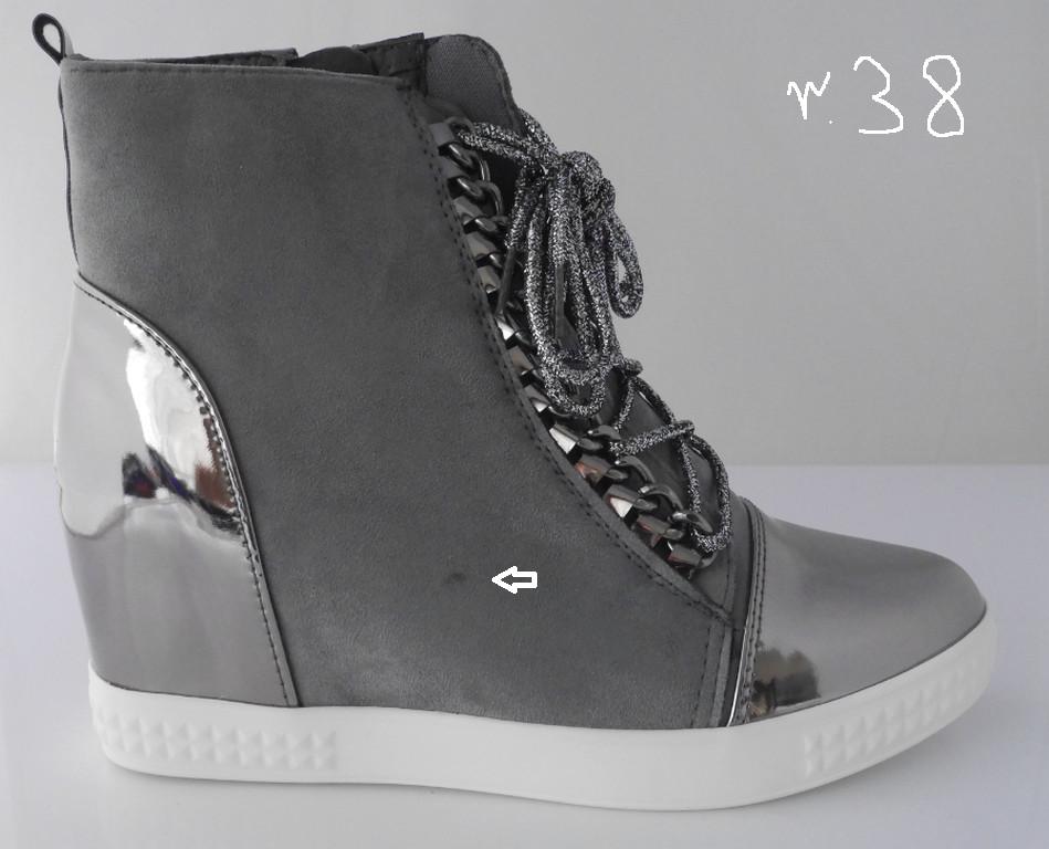 Botki sneakersy damskie Vices 1123 grey (PRZECENA) r38